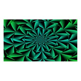 Ilusión óptica redonda de los verdes y de los azul tarjeta de visita