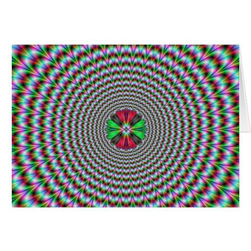 Ilusión óptica tarjeta de felicitación