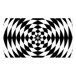 Ilusión óptica tarjetas de visita