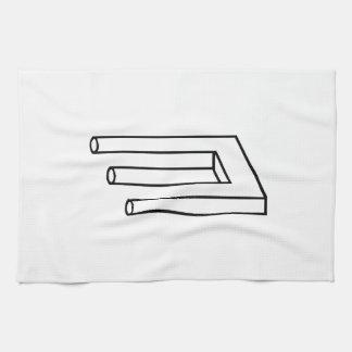 Ilusión óptica toalla de cocina