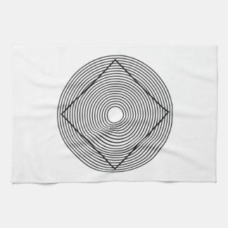 Ilusión óptica toalla de mano