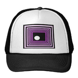 Ilusión óptica urbana púrpura extraña del arte mod gorras de camionero