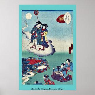 Ilusión por Utagawa, Kunisada Ukiyoe Poster
