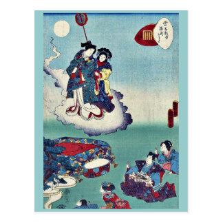 Ilusión por Utagawa, Kunisada Ukiyoe Postales