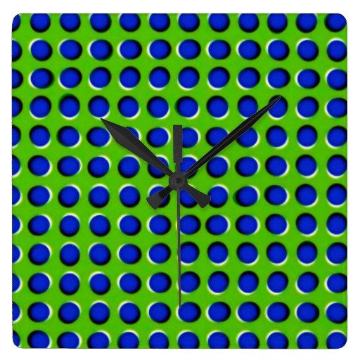 Ilusión Reloj Cuadrado