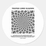 Ilusión torcida del cordón (espiral falso) pegatinas redondas