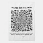 Ilusión torcida del cordón (espiral falso) toallas