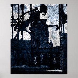 Ilusiones de la impresión del gótico de la eternid póster