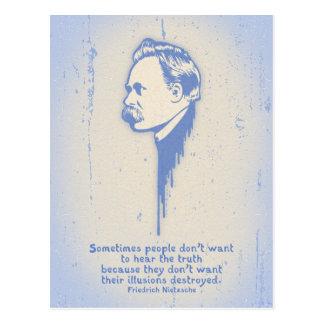 Ilusiones de Nietzsche Tarjeta Postal