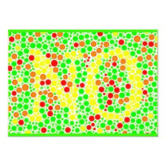 """ilusiones ópticas de los colorful_polkadots invitación 5"""" x 7"""""""