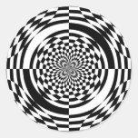 Ilusiones ópticas pegatina redonda