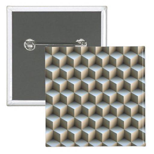 Ilusiones ópticas pin cuadrado
