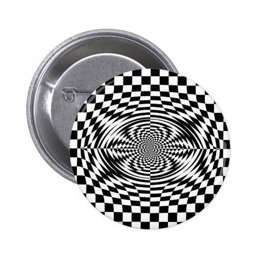 Ilusiones ópticas pin redondo de 2 pulgadas