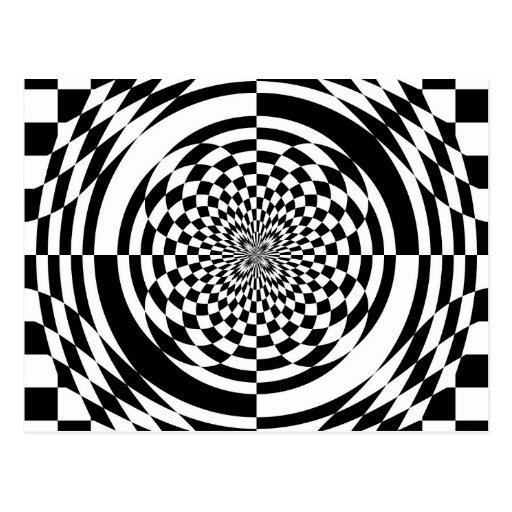 Ilusiones ópticas tarjetas postales
