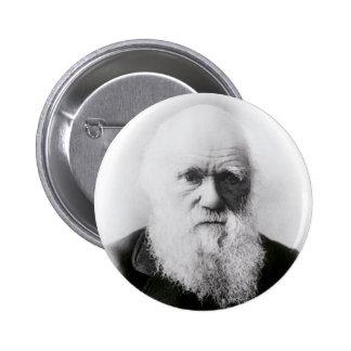 Ilustración de Charles Darwin Pin Redondo De 2 Pulgadas