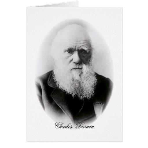 Ilustración de Charles Darwin Tarjetas
