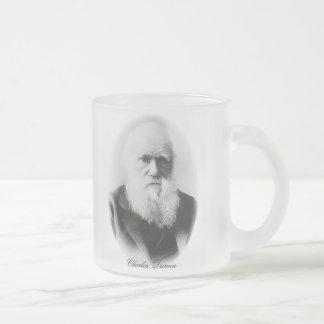 Ilustración de Charles Darwin Taza Cristal Mate