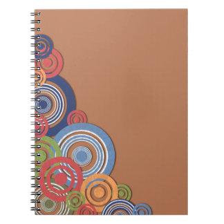 Ilustración de la esquina libro de apuntes con espiral