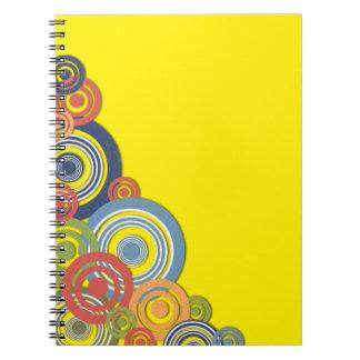 Ilustración de la esquina libros de apuntes con espiral