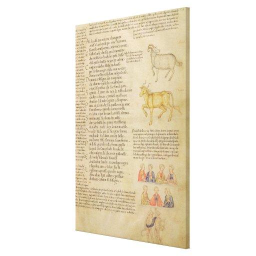 Ilustración de la página fol.171 de ms Italien 87  Impresión De Lienzo