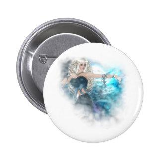 Ilustración de la sirena del cielo de la fantasía pin