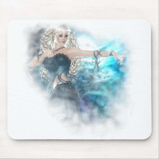 Ilustración de la sirena del cielo de la fantasía mouse pad