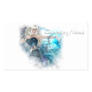 Ilustración de la sirena del cielo de la fantasía tarjetas de visita