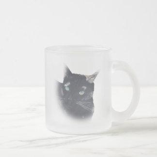 Ilustración de la taza de la cara del gato de la c