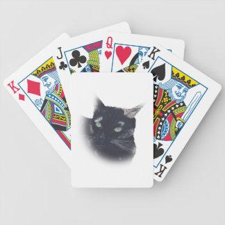 Ilustración de los naipes de la cara del gato de l barajas