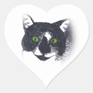 Ilustración de los pegatinas de la cara del gato d