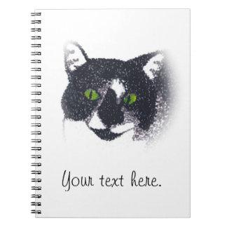 Ilustración del cuaderno de la foto de la cara del