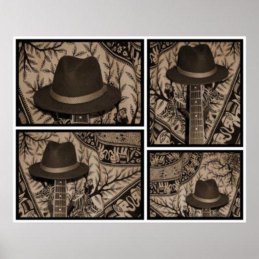 Ilustración del gorra posters