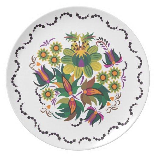 Ilustración púrpura platos para fiestas