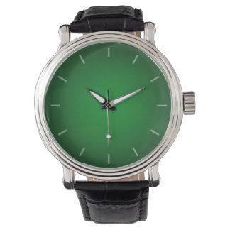 Ilustración Verde-Negra granosa fresca Reloj