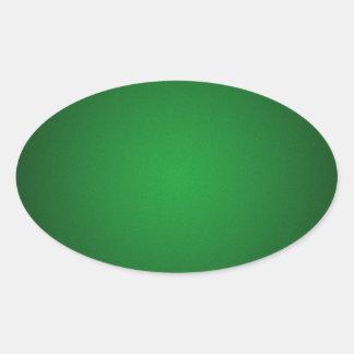 Ilustración Verde-Negra granosa Pegatina Ovalada