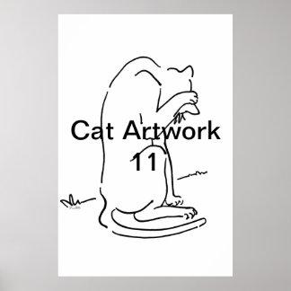 Ilustraciones 11 del gato impresiones