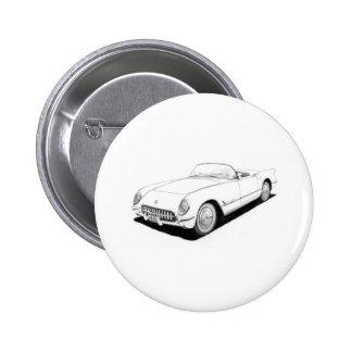 Ilustraciones 1953 de Chevrolet Corvette C1 Pin