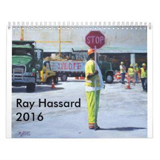 Ilustraciones 2016 del calendario de Hassard del