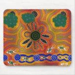 Ilustraciones aborígenes alfombrillas de raton