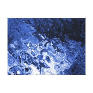 Ilustraciones abstractas azules del árbol impresión en tela