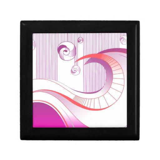 Ilustraciones abstractas caja de joyas
