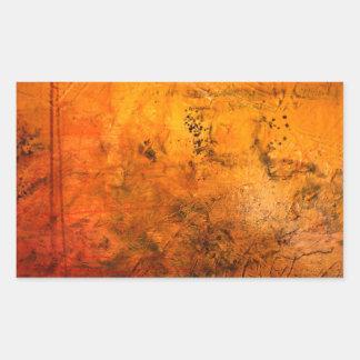 Ilustraciones abstractas clásicas pegatina rectangular