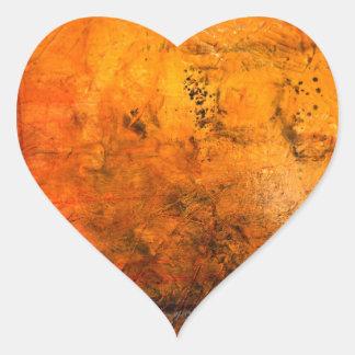 Ilustraciones abstractas clásicas pegatina en forma de corazón