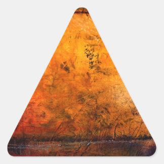 Ilustraciones abstractas clásicas pegatina triangular