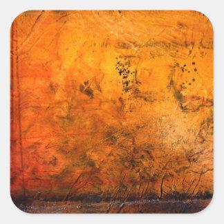 Ilustraciones abstractas clásicas pegatina cuadrada