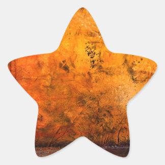 Ilustraciones abstractas clásicas pegatina en forma de estrella