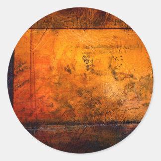 Ilustraciones abstractas clásicas pegatina redonda