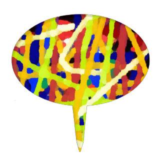 Ilustraciones abstractas coloridas figura de tarta
