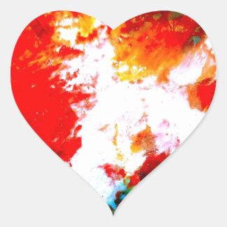 Ilustraciones abstractas creativas pegatina en forma de corazón