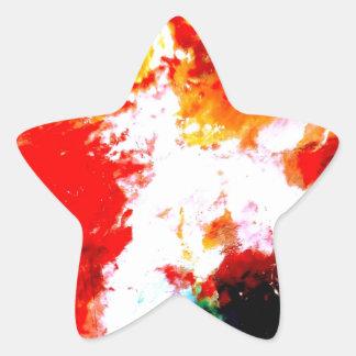 Ilustraciones abstractas creativas pegatina en forma de estrella